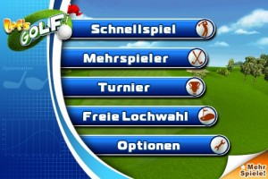 Screenshot: Let's Golf Menü