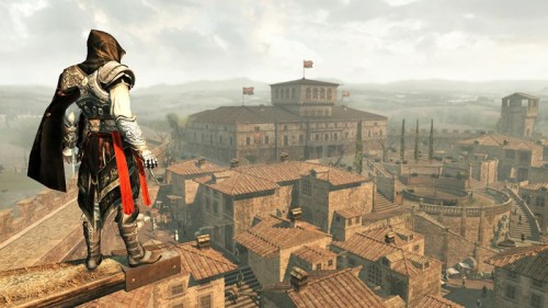 Assassin's Creed 2 Ezio over Monterrigioni