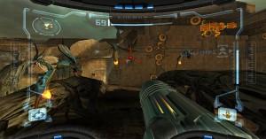 Metroid Prime 1: Fokussieren der Gegner (Quelle: http://www.gamespress.com)