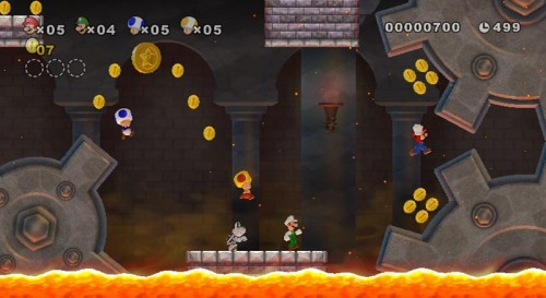 New Super Mario Bros. Wii: 4 auf einem Screen