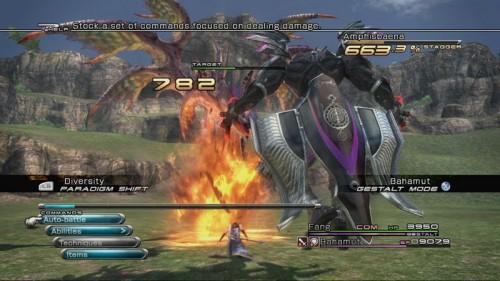 Final Fantasy XIII - Kampfbildschirm