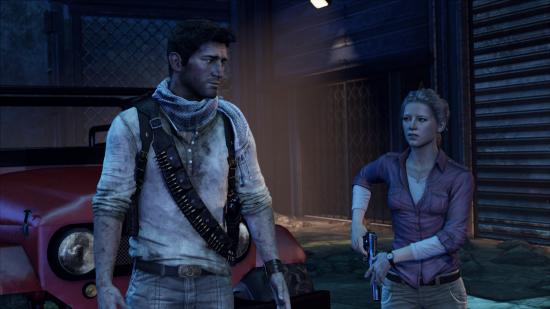 Uncharted 3: Mit Elena nachts am Flughafen
