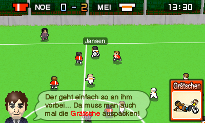 Nintendo Pocket Football Club Spielszene