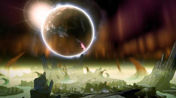 Pandora. Vom Mond aus betrachtet.