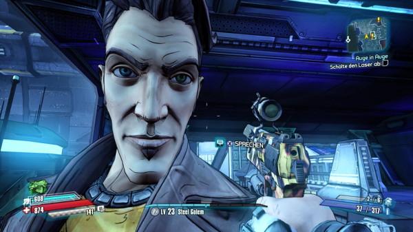 Auge in Auge mit Jack in Borderlands: The Pre-Sequel (PC)