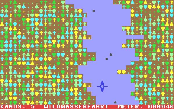 """Bild 5: """"Wildwasser"""" von Happy Software aus 1984"""