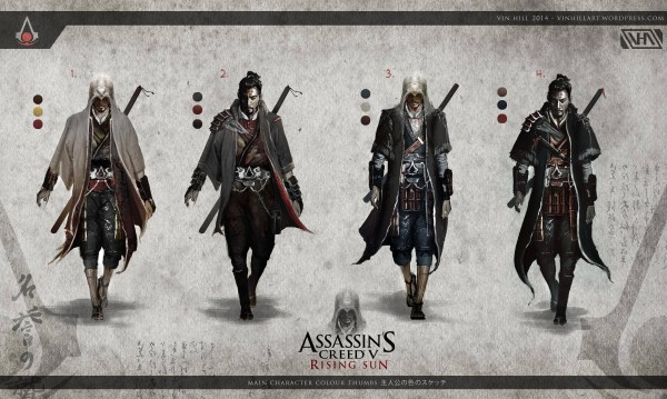Assassin's Creed in Japan Assassin's Creed V: Rising Sun - Assassinen - Artwork von Vin Hill