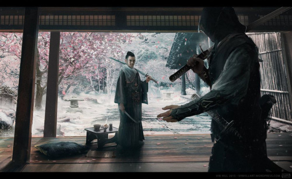 Assassin's Creed in Japan Assassin's Creed V: Rising Sun - Showdown - Artwork von Vin Hill