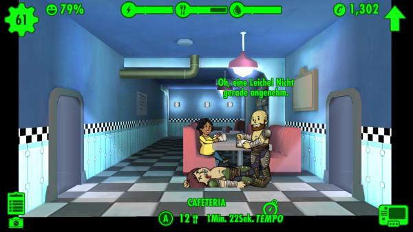 Fallout Shelter: ein toter Vault Dweller