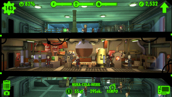 Fallout Shelter: Nuka Cola für alle!
