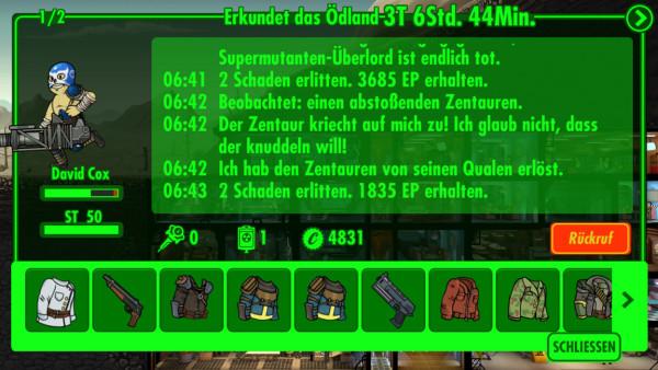 Fallout Shelter: das Ödland erkunden