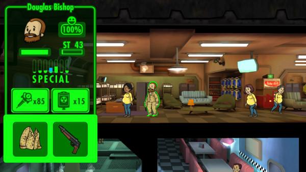 Fallout Shelter: S.P.E.C.I.A.L. Stats und die Zufriedenheit