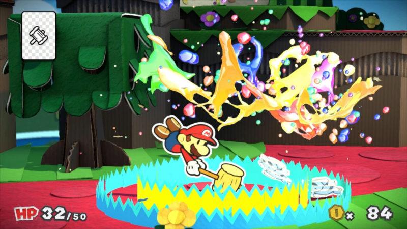 Jetzt wirds bunt: Mario brät allen eins mit dem Farbhammer über