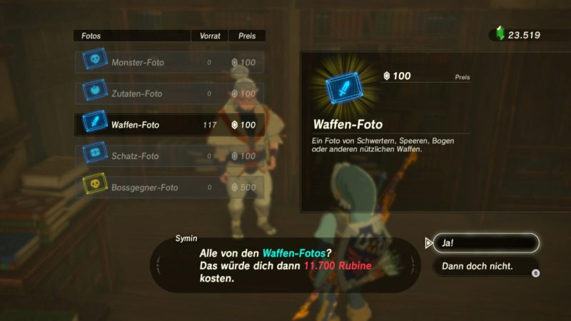 Breath of the Wild: Fotos in Hateno kaufen