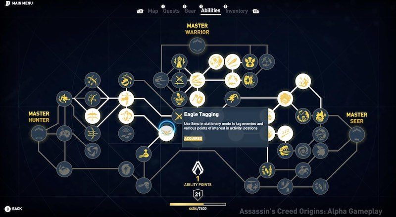 Assassin's Creed Origins - Bayek Skilltree