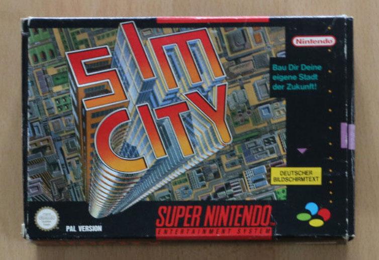 Sim City SNES Verpackung