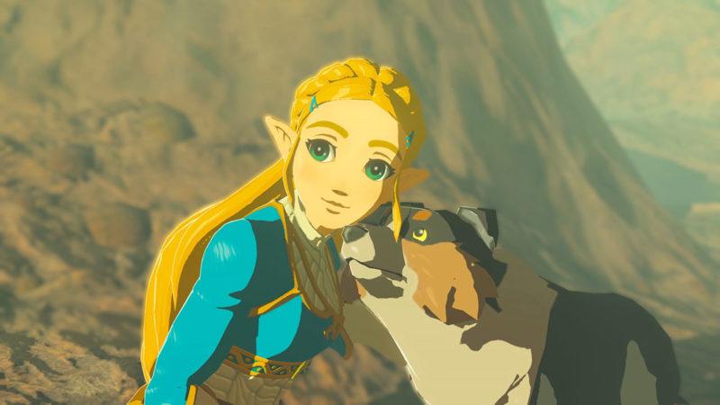 Breath of the Wild - Ballade der Recken:  Prinzessin Zelda mit Hund