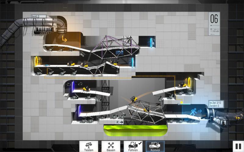 Portal Bridge Constructor Screenshot