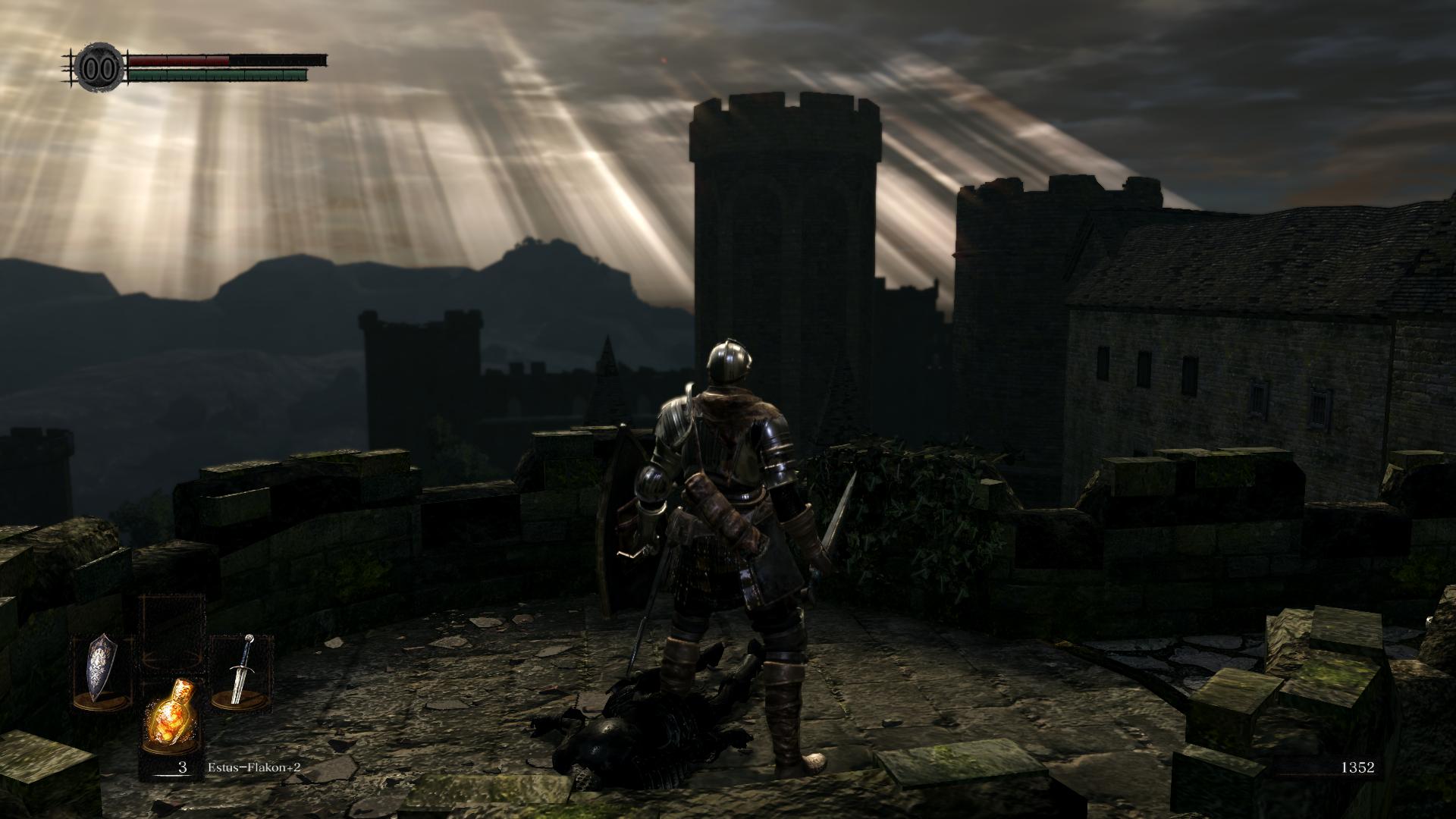 Dark Souls Remastered Screenshot Aussicht Lordran