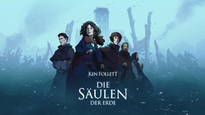 Ken Follett - Säulen der Erde - Keyart von Daedalic